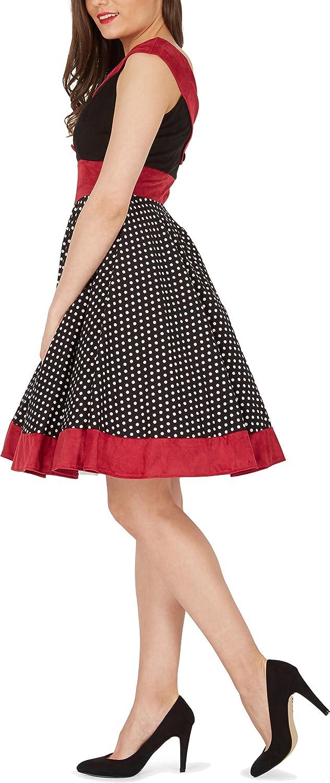 BlackButterfly Sylvia Polka Dot Vintage Rockabilly Swing Pin Up Dress: Amazon.co.uk: Clothing