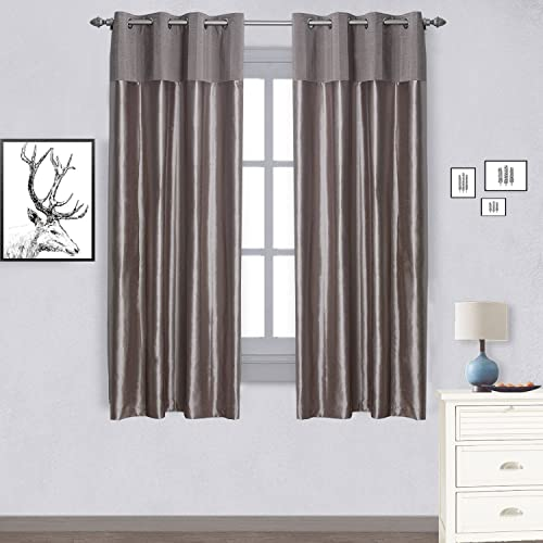 Jarlhome Faux Silk Blackout Curtain