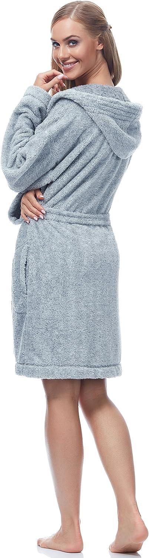 L/&L Accappatoio Vestaglia Donna con Cappuccio Women3
