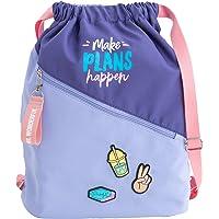 Mr. Wonderful Sack Bag-Make Plans Happen, Multicolor, Talla