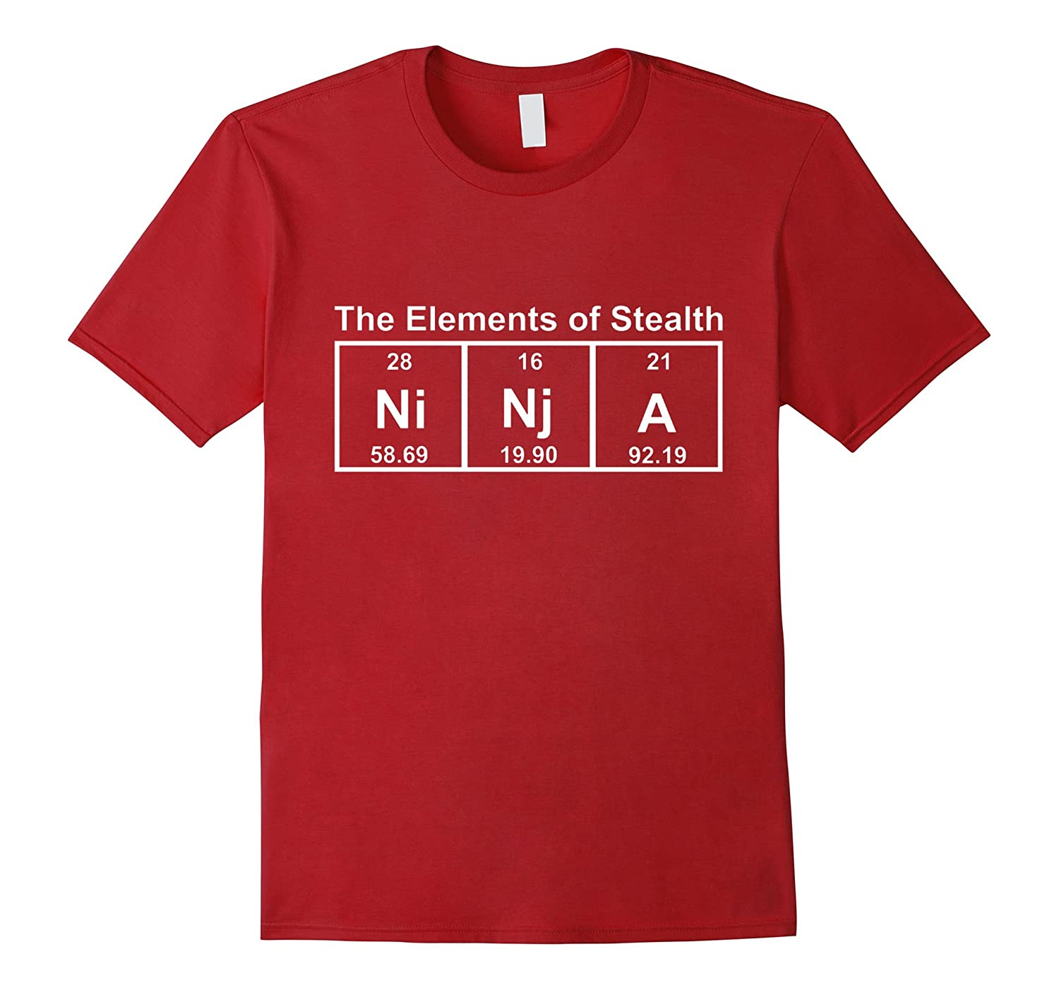 The Elements Of Stealth T Shirt Ninja Funny Quotes Science Tj