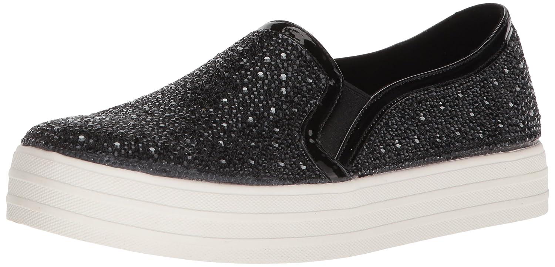 Skechers Women's Double up-Glitzy Gal Sneaker B0787JFF4T 7.5 B(M) US|Black