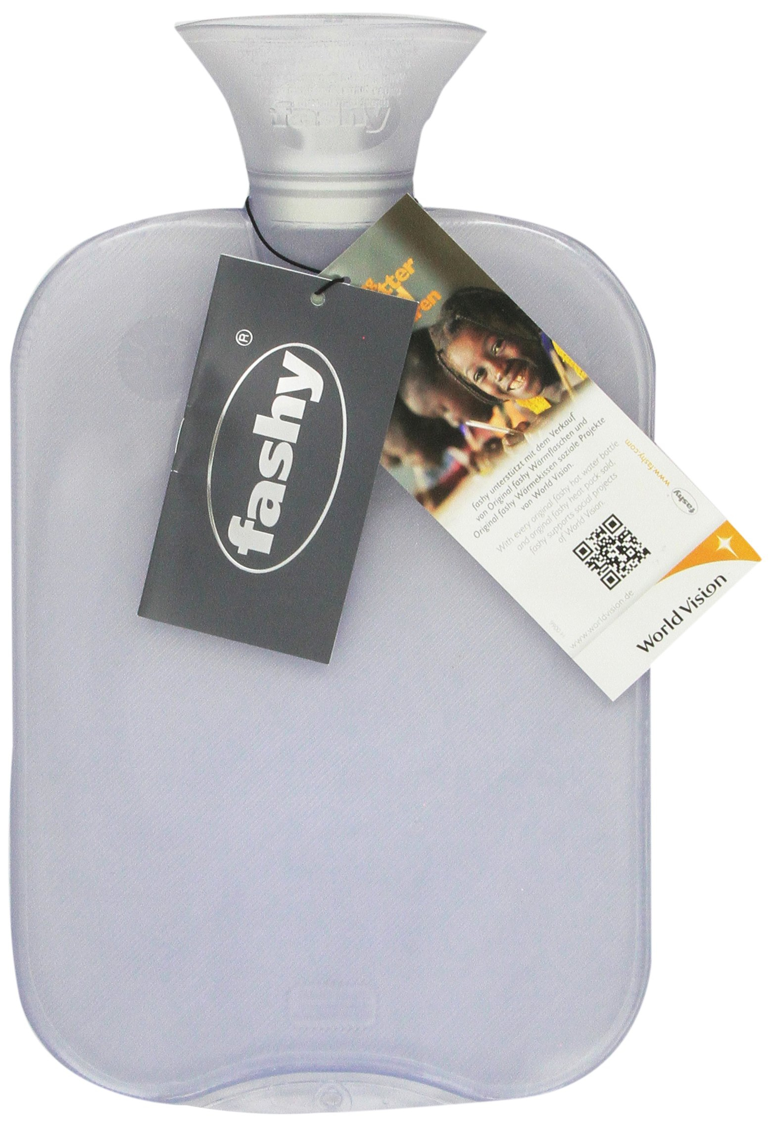 Transparent Classic Hot Water Bottle - Made in Germany by Fashy