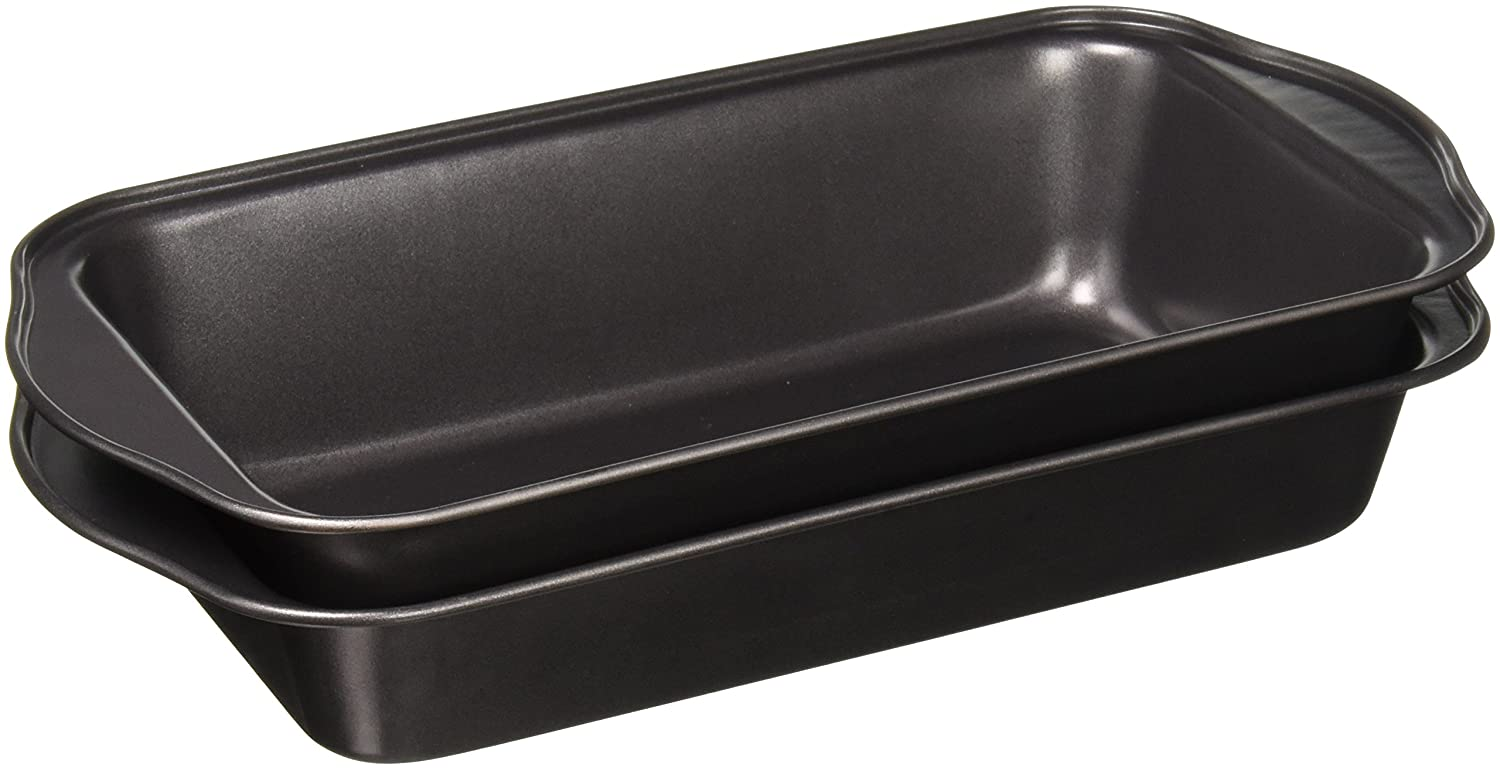 Evelots 2 Piece Non Stick Meatloaf Pan Drains Fat As It Cooks - Cooking & Baking Green Mountain Imports 3218
