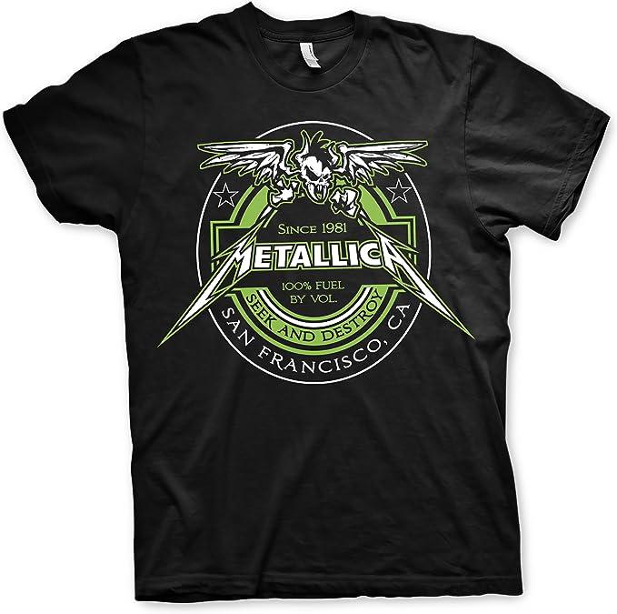 Camiseta Rockera Metallica Hombre