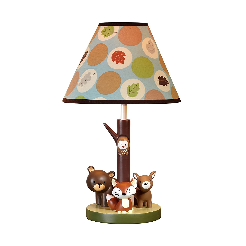 Lamp Shade Woodland Animals Bear Deer Nursery Light Baby Kids ...