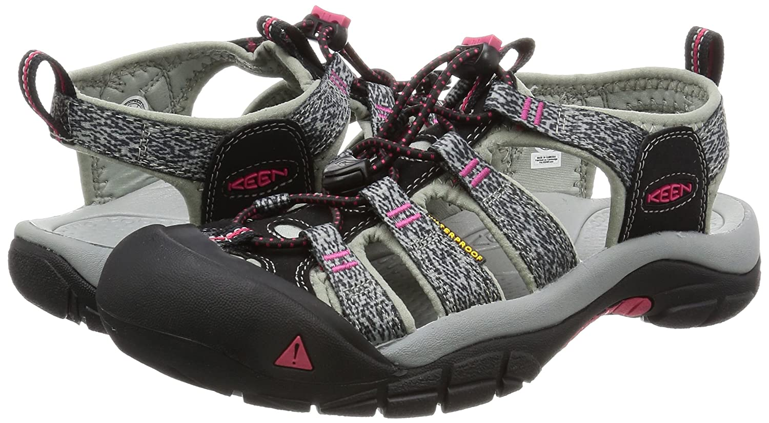 KEEN Women's Newport H2 Sandal B01H763W04 10 B(M) US|Black/Bright Rose