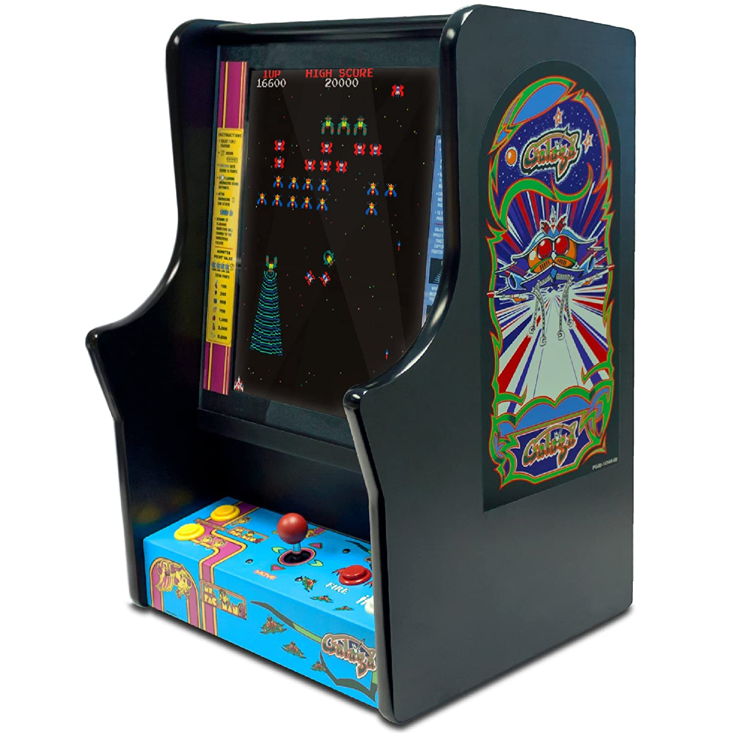 Ms Pacman Cabinet Amazoncom Namco Ms Pacman And Galaga Bartop Home Arcade Game