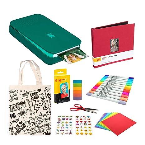 KODAK Smile Impresora Digital instantánea (Verde) Paquete de ...