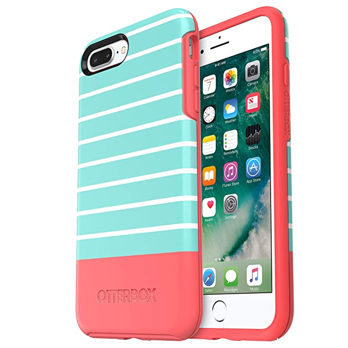 pretty nice e9ce2 d99ea OtterBox SYMMETRY SERIES Case for iPhone 8 Plus & iPhone 7 Plus (ONLY) -  Retail Packaging - AQUA MINT DIP (AQUA MINT/CANDY PINK/AQUA MINT DIP  GRAPHIC)