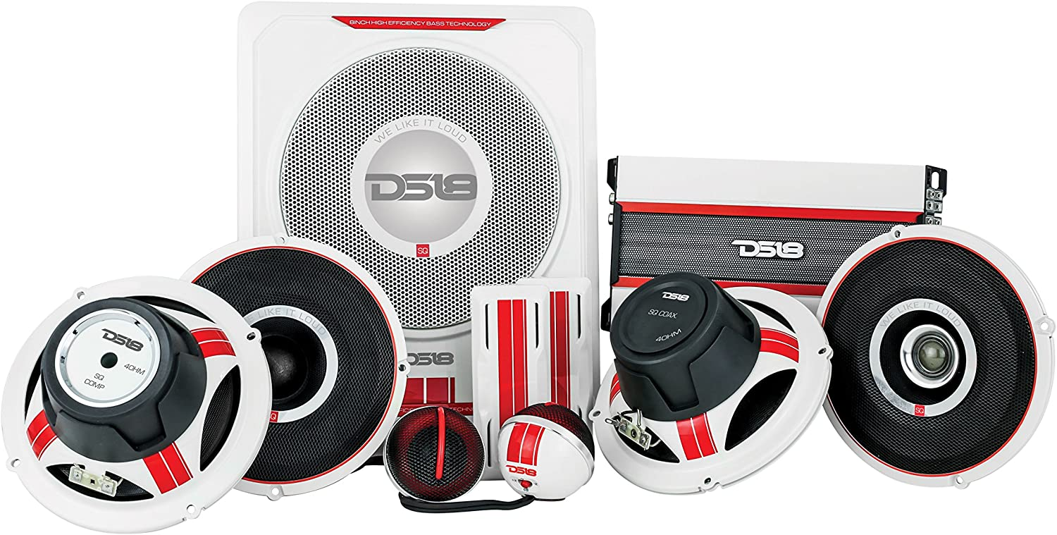 2-Way Component Set Sound Quality Component Set DS18 SQCOMP 6.5 Inch Component Speaker System 300 Watts Max Power