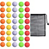 40 Pack Foam Golf Practice Balls - Realistic Feel and Limited Flight Training Balls for Indoor or Outdoor
