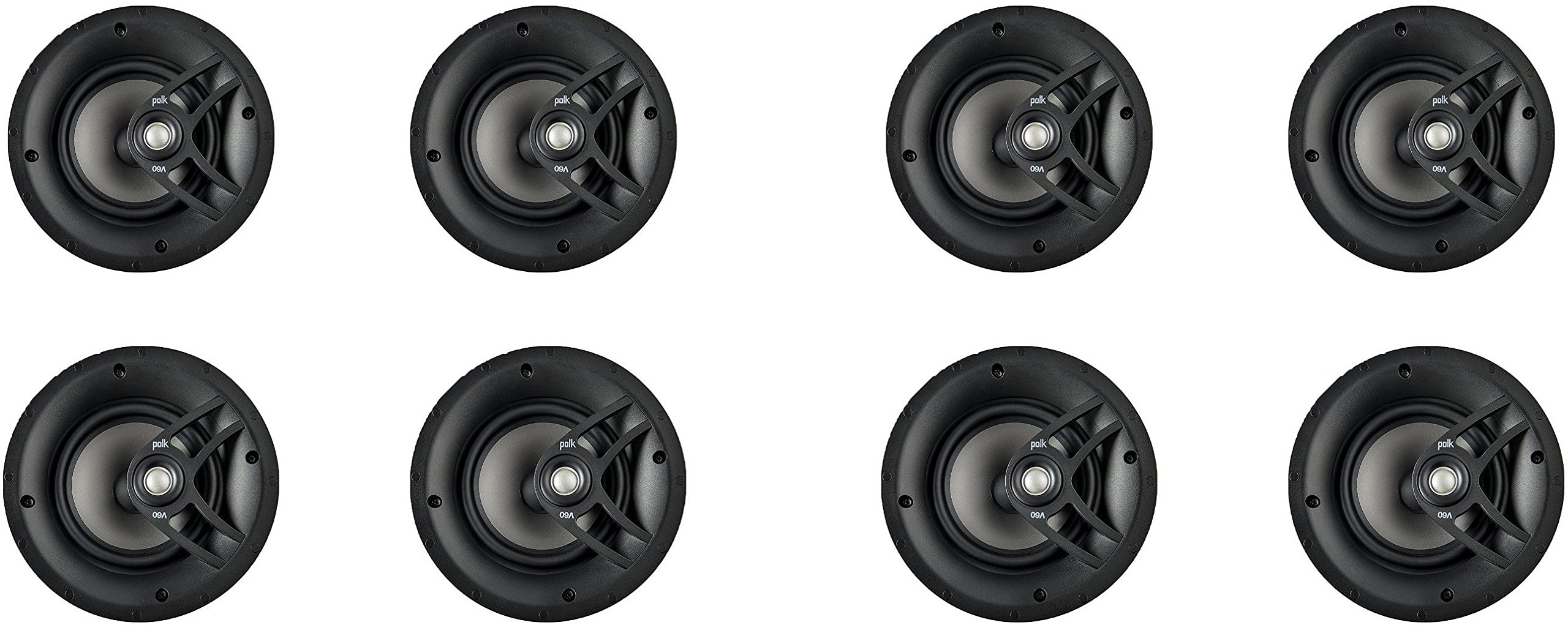 Polk Audio V60 High Performance Vanishing In-Ceiling Speakers (8 Pack) … by Polk Audio