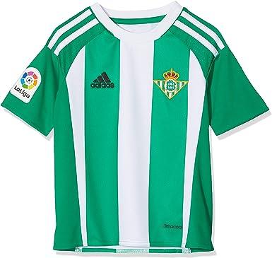 erótico Moviente ambición  adidas 1ª Equipación Betis FC - Camiseta Oficial niños: Amazon.es: Ropa y  accesorios