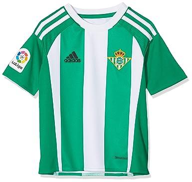 mejor nueva estilos completo en especificaciones adidas 1ª Equipación Betis FC - Camiseta Oficial niños ...