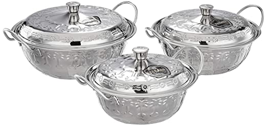 Sorabh 28APD-3B Stainless Steel Apple Dish 28g Big for Home (Set of 3)