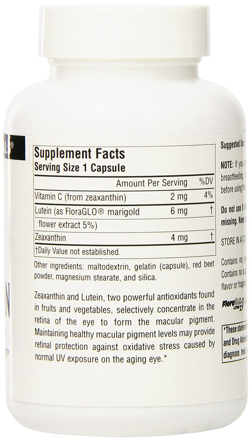 Amazon.com: SOURCE NATURALS Zeaxanthin with Lutein 10 Mg Capsule, 120  Count: Health & Personal Care