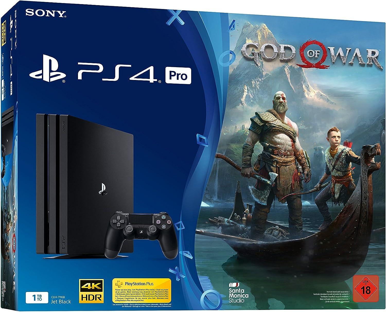 PlayStation 4 1TB PRO Black + God of War [Importación alemana]: Amazon.es: Videojuegos