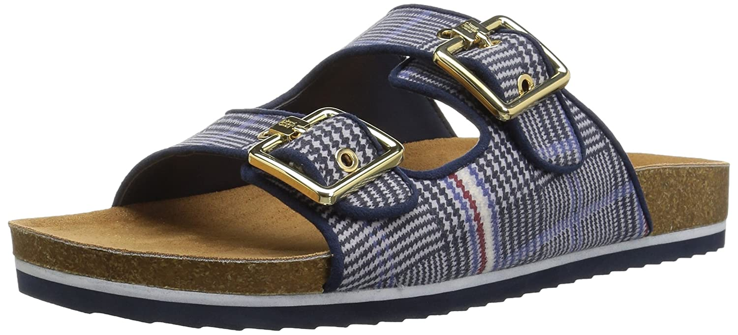 Tommy Hilfiger Women's Ginga Slide Sandal B07D7S9277 6.5 B(M) US|Blue