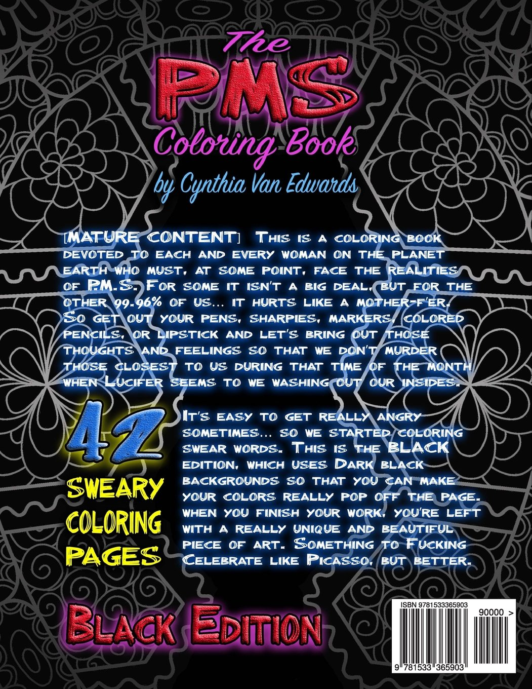 The pms coloring book a stress relieving adult coloring Dragon coloring book for adults midnight edition
