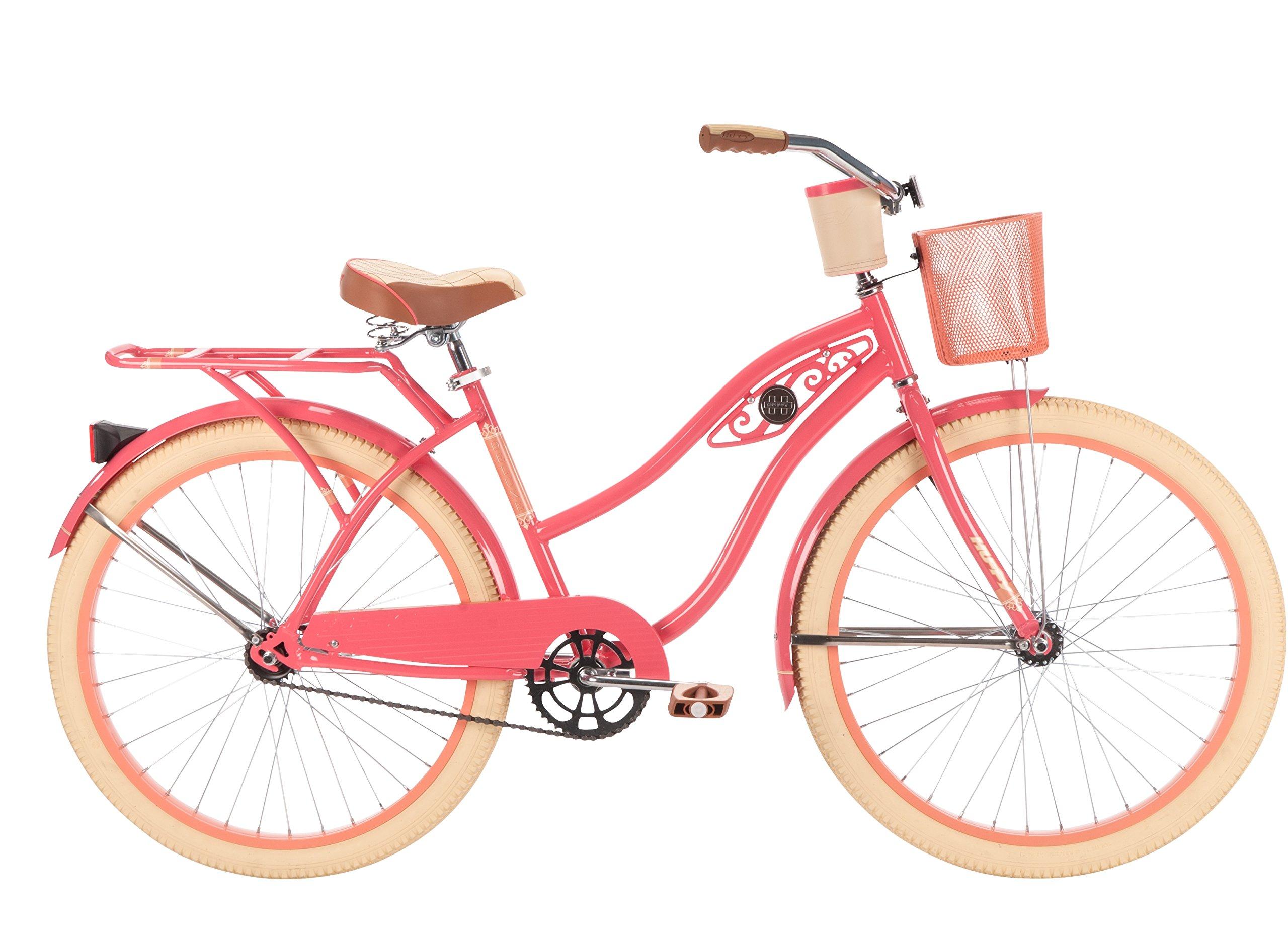 26'' Huffy Deluxe Women's Cruiser Bike, Coral