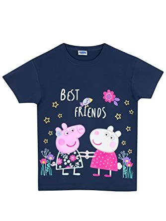 f7eb16db7 Peppa Pig Girls T-Shirt Navy Ages 5 to 6 Years: Amazon.co.uk: Clothing