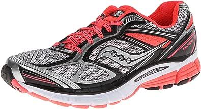 Saucony Women's Guide 7 Running Shoe,White/Black/Vizicoral,5.5 M US