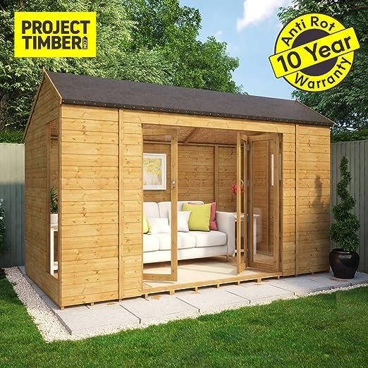 Project Timber - Casa de verano de madera Monte Carlo con puertas francesas : Amazon.es: Jardín