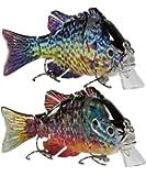 Sunrise Angler 4 Inch Bluegill Jointed Swimbait   Sinking Hard Bait Fishing Lure for Freshwater Game Fishing with…
