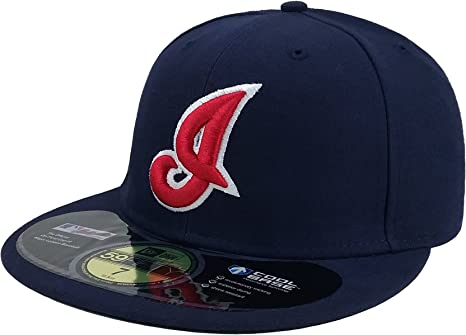 Authentic Cleveland Indians Navy New Era 59Fifty Cap