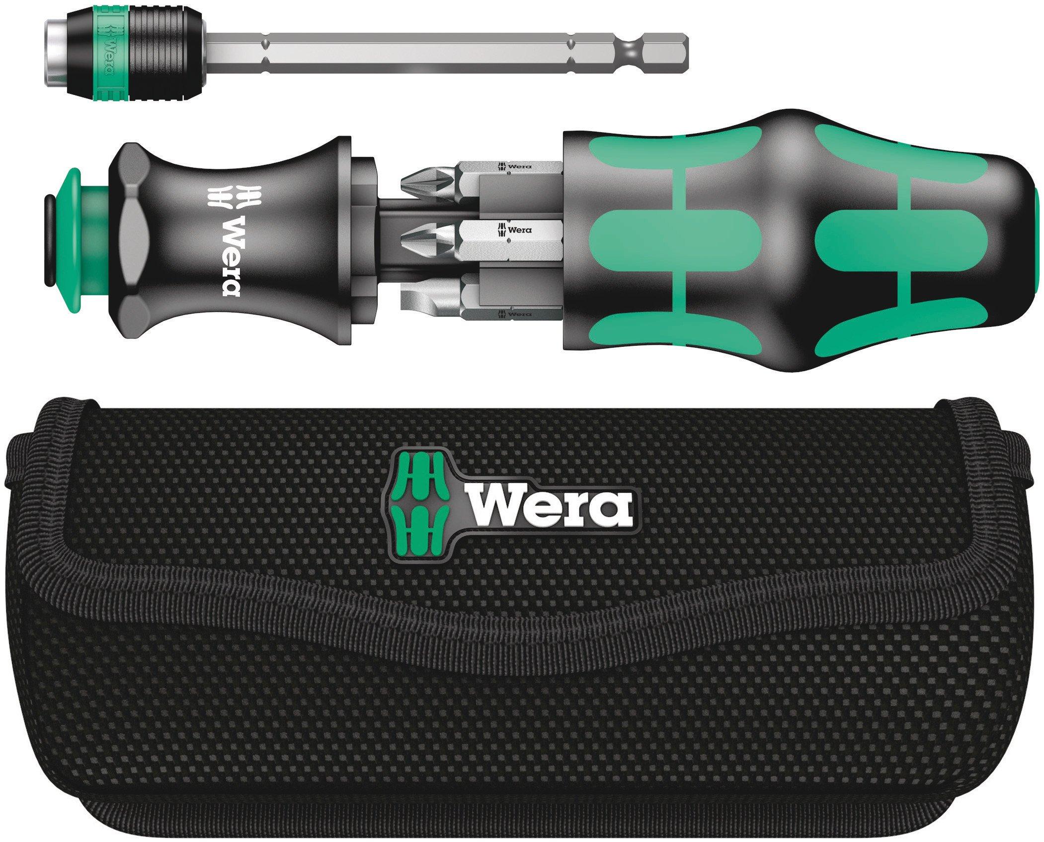 Wera Kraftform Kompact 20 7-In-1 Bitholding Screwdriver with Removable Bayonet Blade (SL/PH/PZ) by Wera
