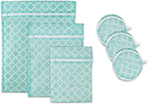 DII Set of 6 Mesh Laundry Bags for Delicates, Bra, Underwear, Hosiery, Stocking, Lingerie, Travel Storage, and Closet Organization - Set of 6 Medium Assorted Sizes