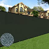 Sunnyglade 6 feet x 50 feet Privacy Screen Fence Heavy Duty Fencing Mesh Shade Net Cover for Wall Garden Yard Backyard (6 ft