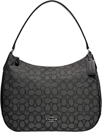 COACH Outline Signature Zip Shoulder Bag
