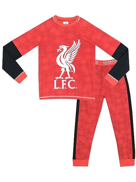 Bebé niños Pijamas Liverpool Rojo Y Negro Largo
