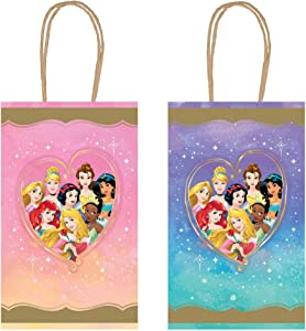 """Disney Princess"" Assorted Party Kraft Bags, 8.25"" H x 5.25"" 8 Ct."