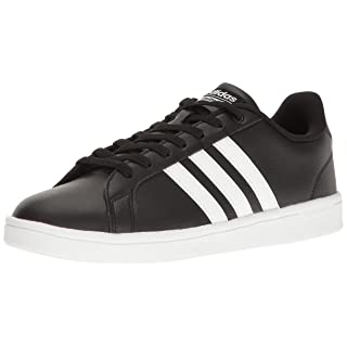 adidas Men's Shoes | Cloudfoam Advantage Sneakers, Black White, ((10 M US)