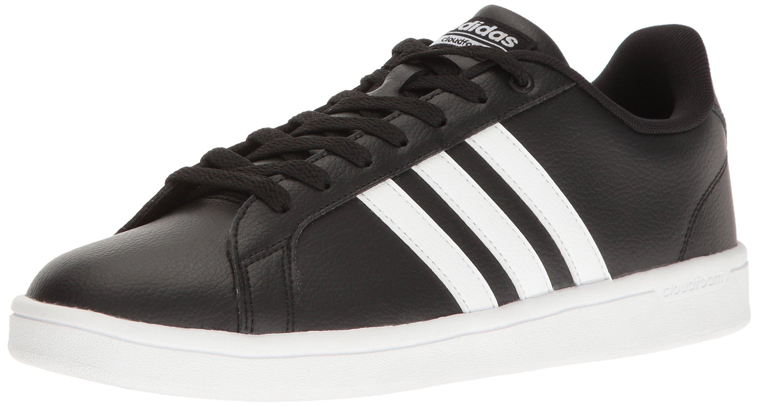 adidas Men's Shoes   Cloudfoam Advantage Sneakers, Black White, (7.5 M US)