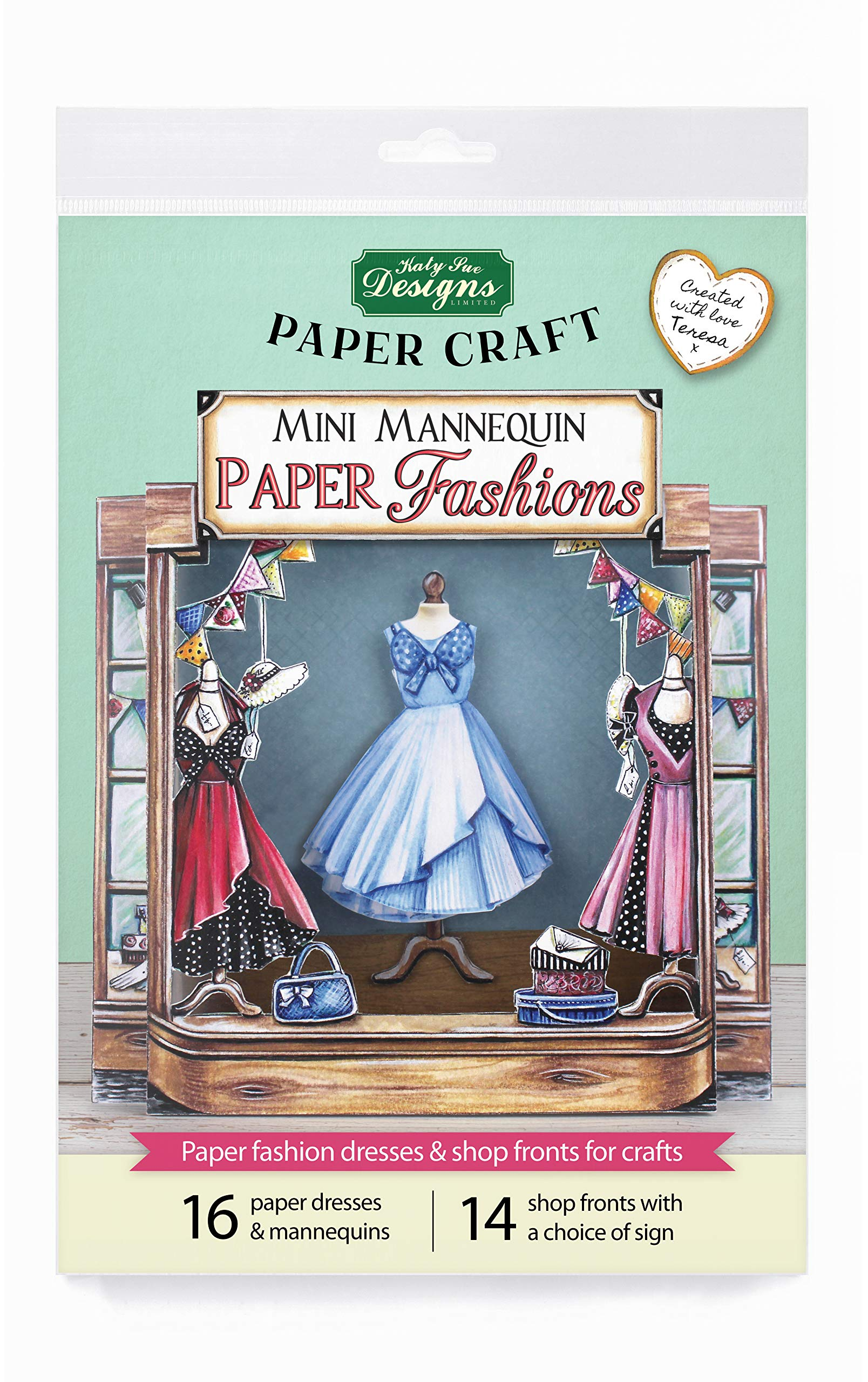 Mini Mannequin Paper Fashions, Paper Craft and Card Making Kit, Makes 80 Card Toppers, Works with Dies