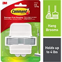 Command White Broom Gripper, Holds up to 4 lbs (17007-HWES)