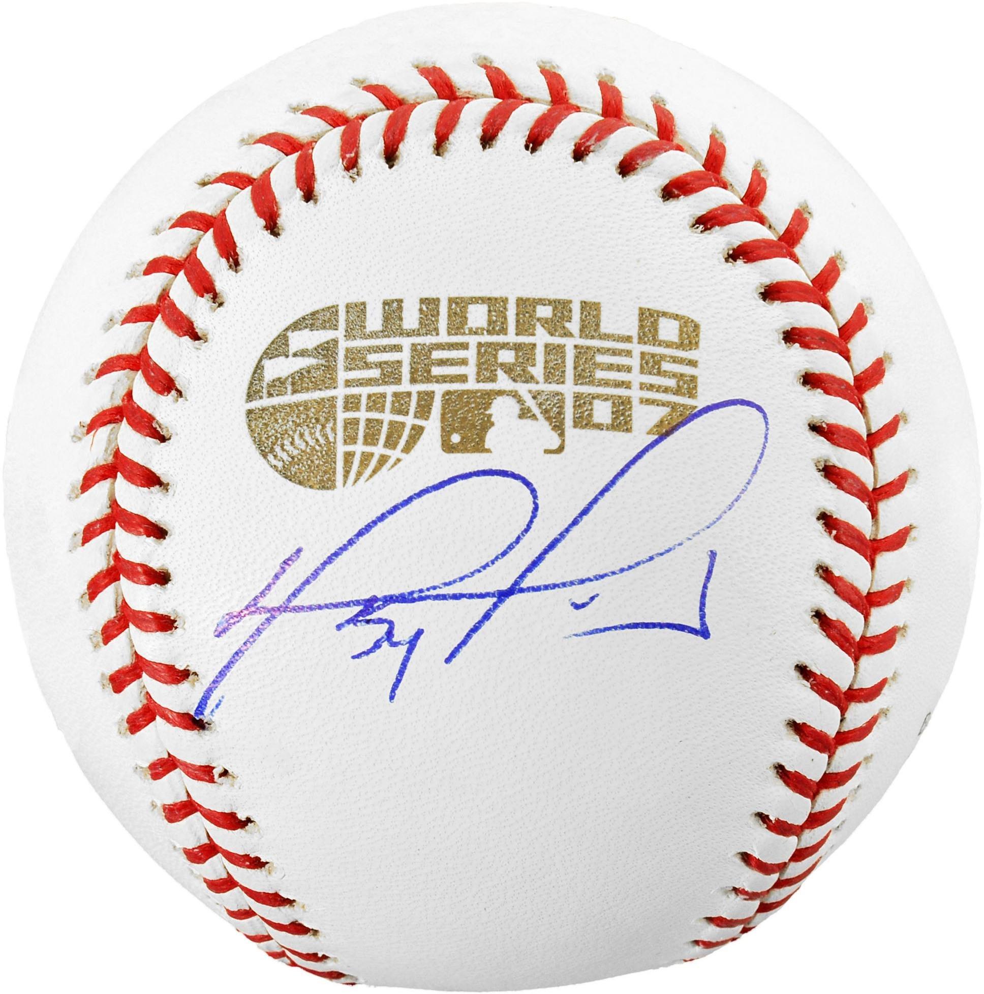 David Ortiz Boston Red Sox 2007 World Series Autographed Baseball Fanatics Authentic Certified Autographed Baseballs