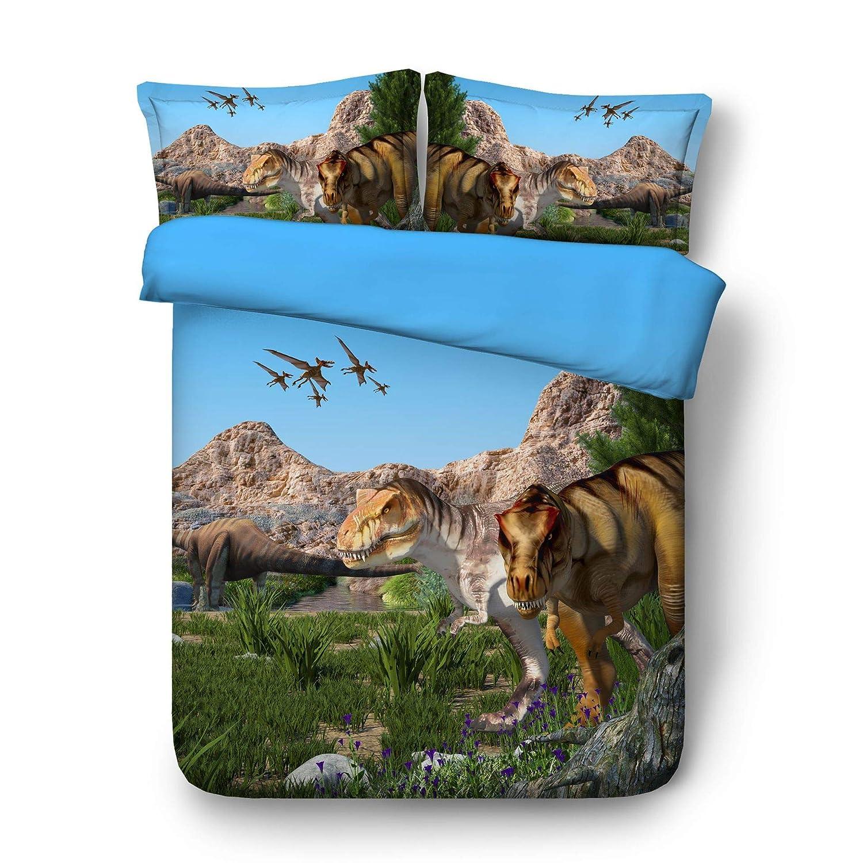 260 225 Ruixinshi Quilt und Kissenbezug Bettwäsche Set Bettwäsche Dinosaurier Heimtextilien Europa und die Vereinigten Staaten Suite Gesteppte Bettwäsche