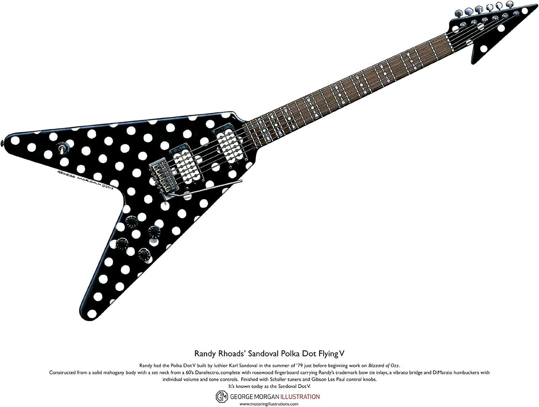 Art Cartel de Sandoval Polka Dot Flying V guitarra de Randy Rhoads ...