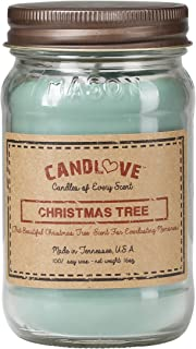 product image for Candlove Christmas Tree Scented 16oz Mason Jar Candle 100% Soy Made in The USA