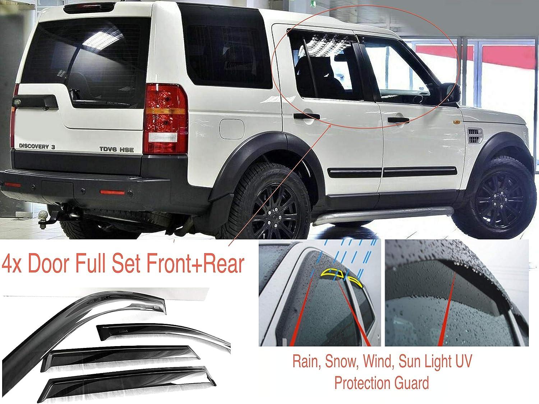 2016 viseras de vidrio acr/ílico AC WOW 4 deflectores de viento compatibles con Land Rover Discovery 3 y 4 LR3 LR4 L319 2004