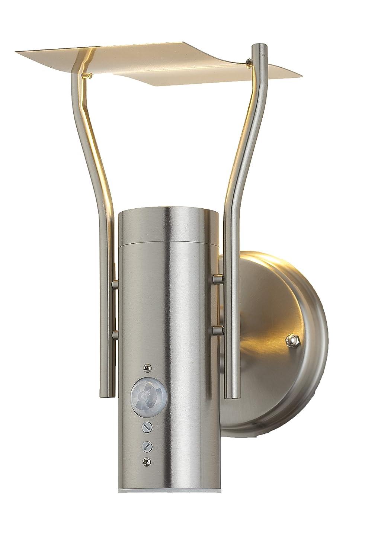 Aussenleuchte Aussenwandleuchte Aussenlampe Gartenlampe LED E27 Edelstahl Lampe (Wandlampe Lisa BWG) wugos