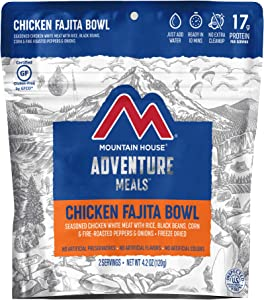 Mountain House Chicken Fajita Bowl | Freeze Dried Backpacking & Camping Food | Gluten-Free