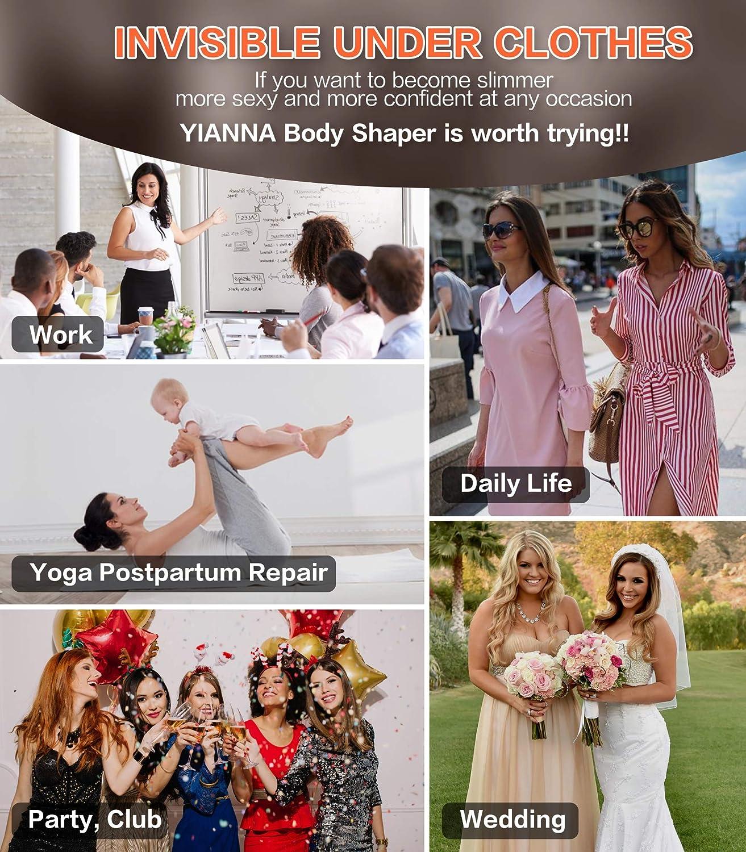YIANNA Women Fajas Colombianas Body Shaper Open Bust Firm Control Shapewear Bodysuit