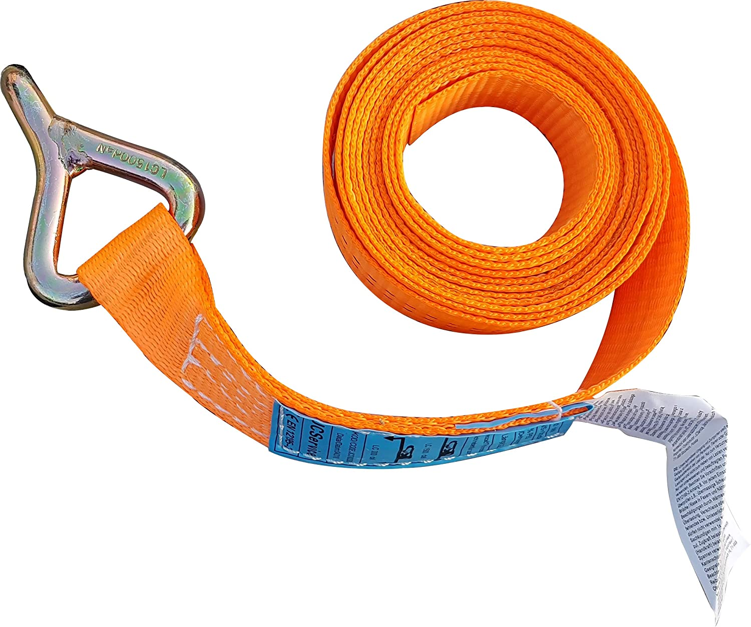 Sangle d'arrimage Professionnelle 35 mm J Hook Orange Sangles d'arrimage Sangle d'arrimage Sangle d'arrimage Sangle de Transport de Voiture JCS Service
