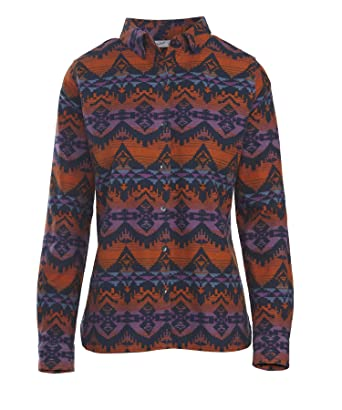 4822c6a8 Woolrich Women's Keystone Printed Chamois Shirt, Deep Indigo Multi (Blue)  (Small)